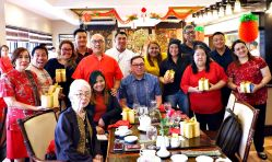 Media friends with Chef Nino general manager Bryan Lasala and officers