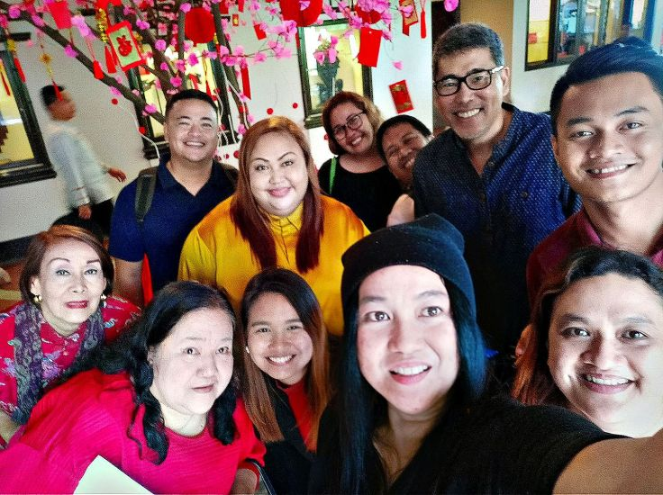 Waterfront officers with Davao media friends